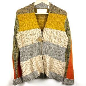 Anthropologie Clementine Streak Cardigan Sweater L